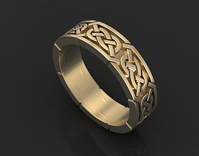 Celtic knot ring 01 3D print model