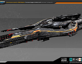 Federation CommanderShip B6 3D asset VR / AR ready