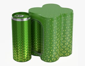 3D Packaging for four 250ml slim beverage soda cans