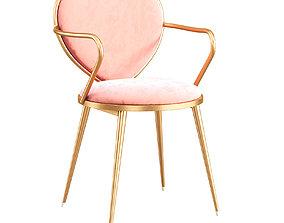 Heart-shaped Chair 082 3D