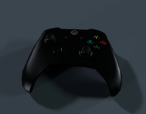 3D asset rigged xbox controller