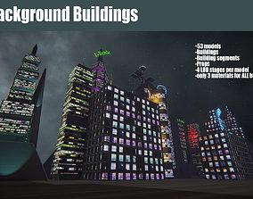 Background Buildings 3D model