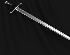 Anduril Aragorns Sword Narsil 3D model