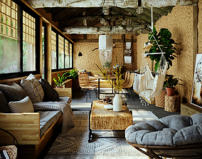 Rustic Style House Design 3D