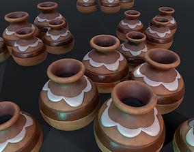 Stylized Clay Pot - Game Ready 3D asset