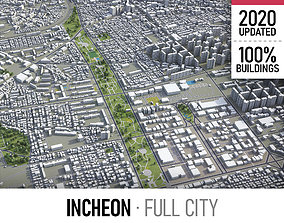 3D asset Incheon - city and surroundings