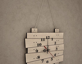 3D Wooden Wall Clock 16