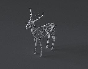 low-poly 3D printer model Deer realtime