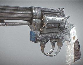 Revolver Engraved 3D model game-ready