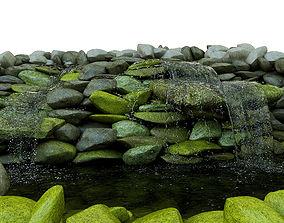 Waterfall 3D model fountain