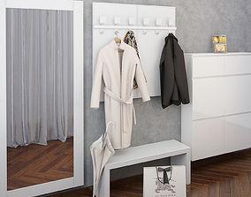 Hallway furniture Birex Cinquanta with coat and 3D model