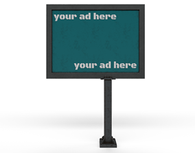 billboard by the road 3D model game-ready