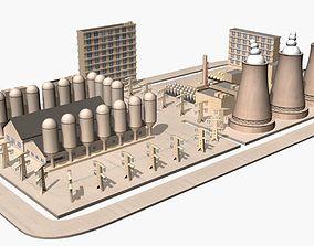 Nuclear Power Plant Cartoon 3D model