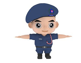 Police Man NCDCC 3D model rigged