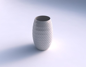 Vase twisted with grid plates 3D printable model