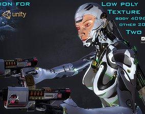 Robot Girl 3D model