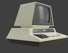 3D asset Commodore PET retro desktop computer