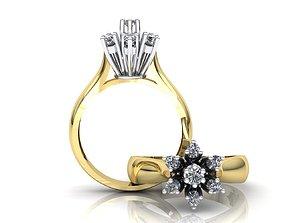 MGold038 Diamond Ring 3dmodel 3D print ready
