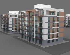 Residential Complex parking 3D