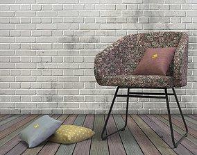 Mantian Chair steel pipe frame 3D asset