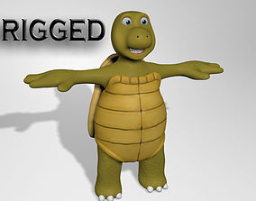 Cartoon turtle character 3D model