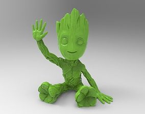 baby groot from guardians of galaxy 3D printable model