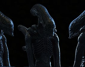 characters 3D printable model Alien