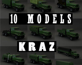 Collection Truck KRAZ 3D