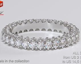 gemstone Engagement ring 3D print model