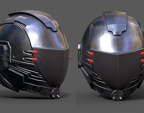 VR / AR ready Helmet scifi military combat 3d model 3