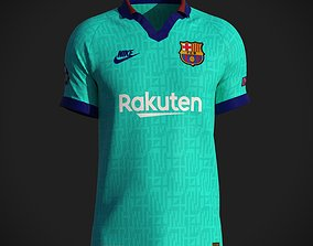 3D model Football jersey 2019-20 collared