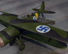 3D model Fokker CX - Finnish