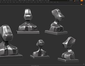 Modern Bust Sculpture 3d print model