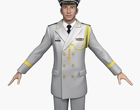 3D Chinese Navy Officers Spring and Autumn Clothes