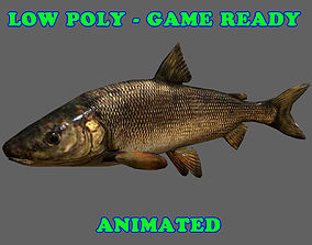 Low Poly Whitefish Animated - Game Ready 3D model