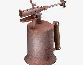 3D asset low-poly Antique Blowtorch