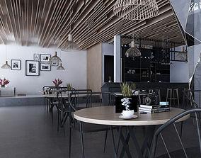 Cafe shop interior 3D model