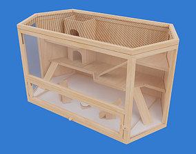 3D model Wooden Hamster Cage