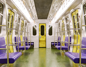 Subway Interior 3D asset