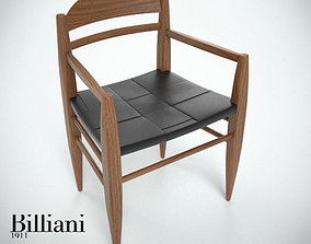 Billiani Vincent VG armchair teak teakwood 3D