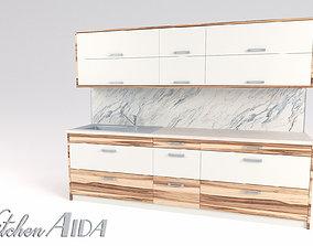Kitchen Aida - Small Kitchen Panel 3D