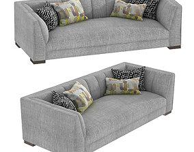 3D model Custom made grey three seat sofa