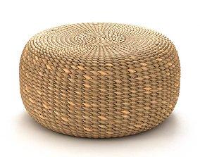 Bazar Bizar WATERHYACINTH Pouf Round natural fibre 3D