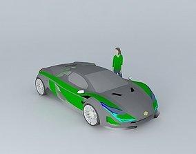 3D model Luxury sports car