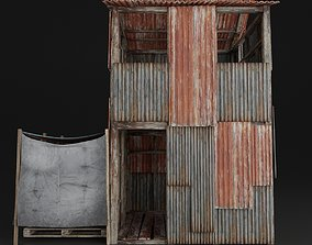 SLUM HOUSE OLD ABANDONED POST NUCLEAR WAR PBR 3D model