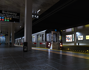 Subway station 3D asset