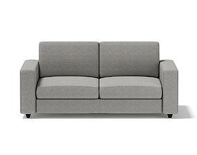 3D model Grey Two Seat Sofa