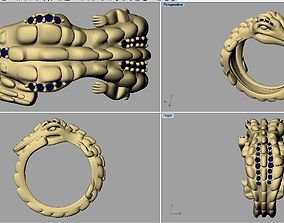 Dragon ring 3D print model jurassic