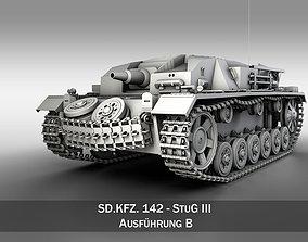 3D model StuG III - Ausfuerung B