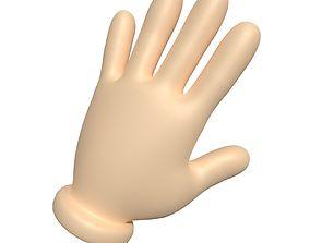Cartoon Hand 3D asset cartoon